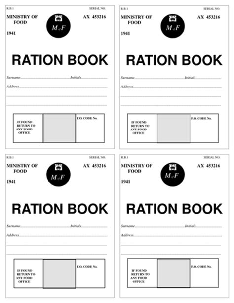 rationing book template world war 2 lesson plans 6 9 by krystalm teaching