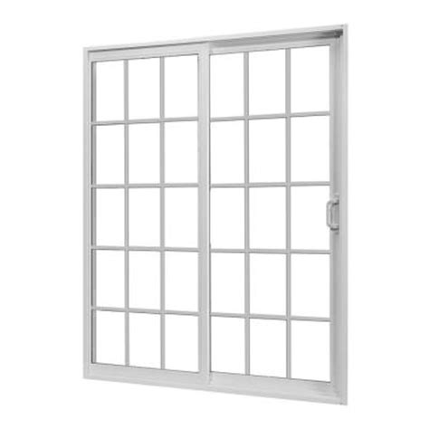 Home Depot Sliding Glass Patio Doors Jeld Wen V 2500 Series White Right Hand Vinyl Sliding