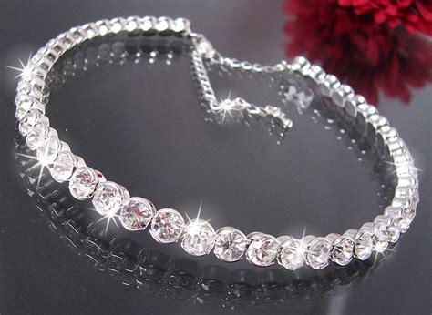 Hochzeitsschmuck Armband by Collier Choker Kette Ohrringe Armband Strass Braut