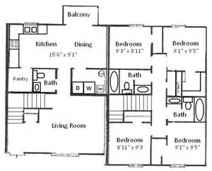 4 Bedroom Floor Plans by Basham Rentals 204 S Salisbury St 4 Bedroom Floor Plan