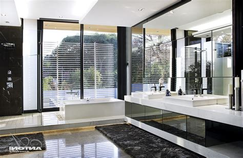 contemporary guest bathroom ideas white stained wooden