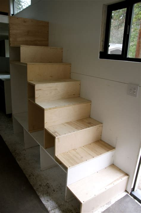 how to build stairs in a small space create 25sf storage with these tiny house stairs