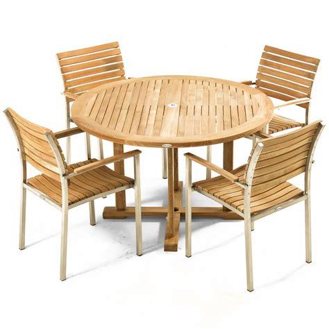 barbuda teak folding 4 foot diameter round table modern vogue 4 ft round teak dining chair set westminster teak