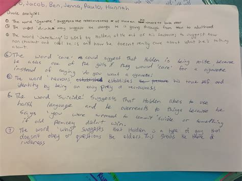 Holden Caulfield Essay by Extended Text Catcher In The Rye Ms Kenny