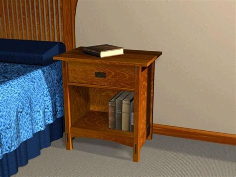 mission style open night stand furniture plans