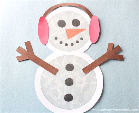 How To Make A Snowman Out Of Paper Plates - suncatcher snowman craft primary theme park