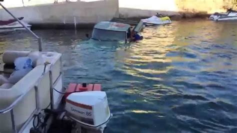 boat crash in needles lake havasu site 6 truck sinks at loading dock video 1