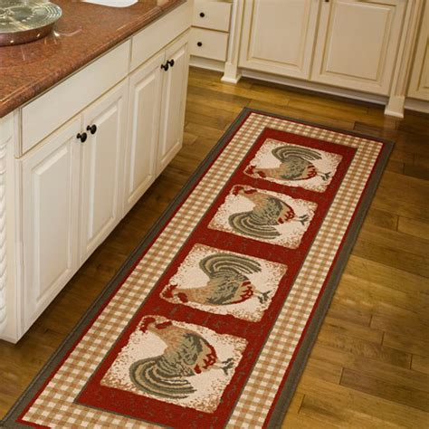 Kitchen Runner Rugs orian country rooster runner rug 1 11 quot x 6