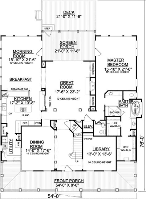 Low Country Floor Plans by Low Country Southern House Plan 9183gu Architectural