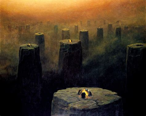 zdzislaw beksinski dark abstract artwork creepy