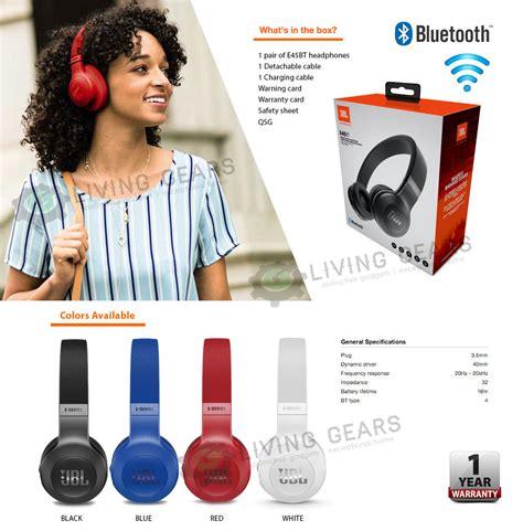 Jbl E45bt Headset White jbl e45bt signature sound wireless bluetooth on ear headphones