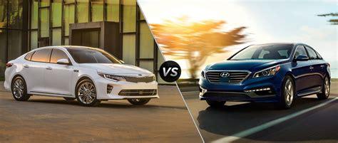 Hyundai Elantra Vs Kia Optima 2016 Kia Optima Vs 2016 Hyundai Sonata