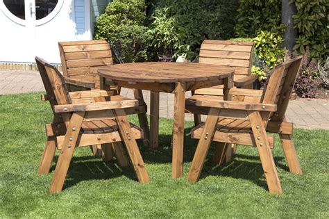 Wood Patio Table Set Uk Made Fully Assembled Heavy Duty Wooden Patio Garden Dining Set With Table Uk Gardens