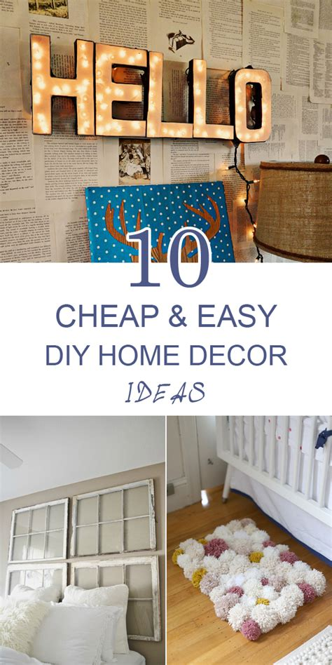 Cheap And Easy Diy Home Decor | 10 cheap and easy diy home decor ideas frugal homemaking