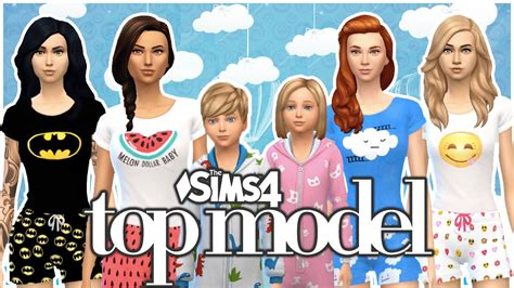 The Sims Next Top Model Week One by The Sims 4 Top Model 7 Piżama