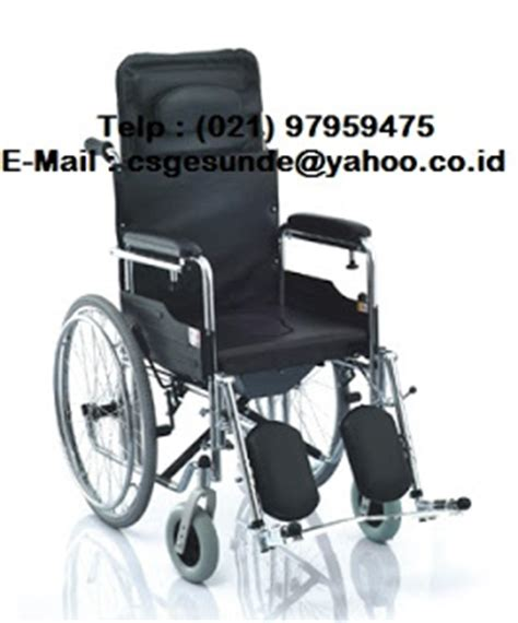 Kursi Roda Di Pasar Rumput kursi roda 3 in 1 wheelchair reclining commode sella