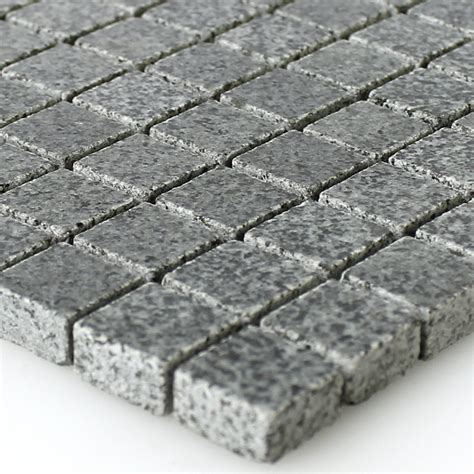 fliesen granit granit mosaik fliesen anthrazit 15x15x8mm mt51290