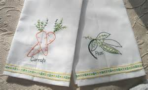Kitchen Towel Embroidery Designs Embroidery Tea Towels Embroidery Designs