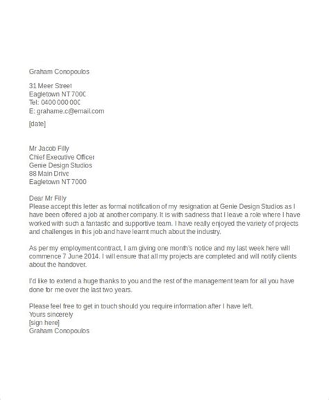 Resignation Letter Format Editable Appreciative Resignation Letter 7 Free Word Pdf Documents Free Premium Templates