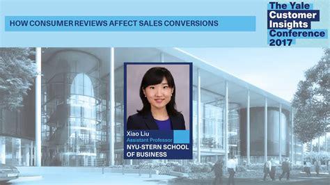 Nyu Mba Mfa Review by Xiao Liu Nyu How Consumer Reviews Affect Sales