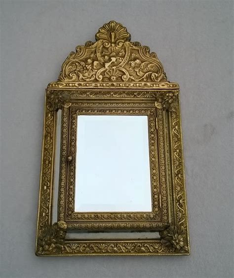 Jam Qnq Attractive Original Da 79 beautiful faceted mirror cabinet with brushes brass