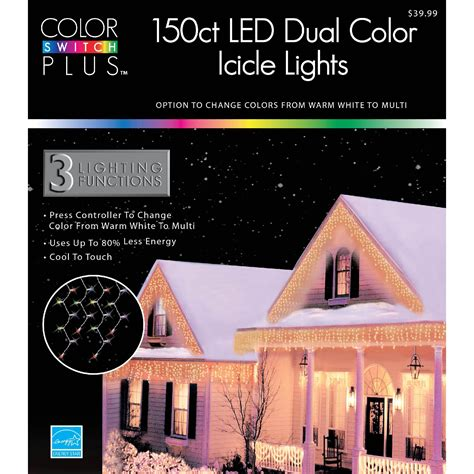 color switch plus lights color switch plus 150 dual color led 3 function icicle lights