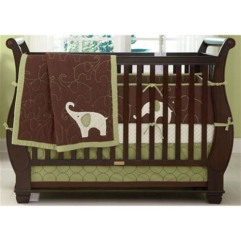 Green Elephant Baby Crib Bedding Offers Complete Comfort Green Elephant Crib Bedding