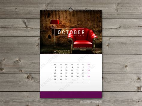 Wall Calendar Template 2018 Yearly Monthly Wall Calendar Wall Calendar 2018 Template
