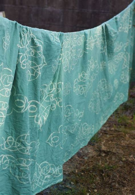 how to dye drop cloth curtains stencil dye your own drop cloth curtain hometalk