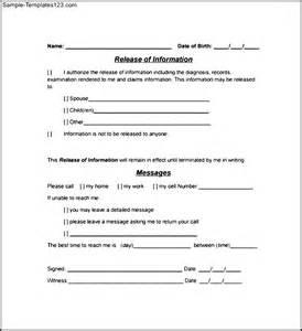 simple hipaa authorization form sample templates