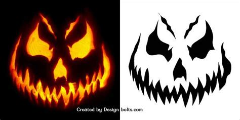 Scary Pumpkin Template by Best 25 Scary Pumpkin Carving Ideas On Scary