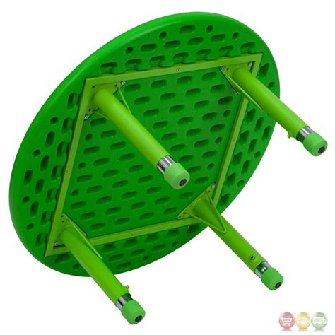 33 inch table 33 inch height adjustable green plastic