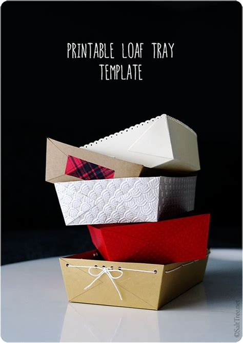 How To Fold A Paper Tray - printable loaf tray template for gifting bread