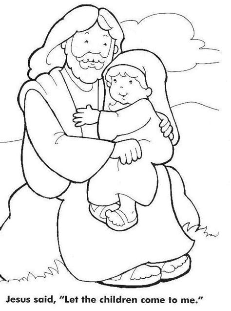 coloring page kids com jesus loves the little children coloring page kids