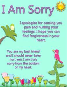 Apology Letter To Best Friend For Hurting A Sweet I Am Sorry Ecard For Your Best Friend With A Message To Ask For Forgiveness This