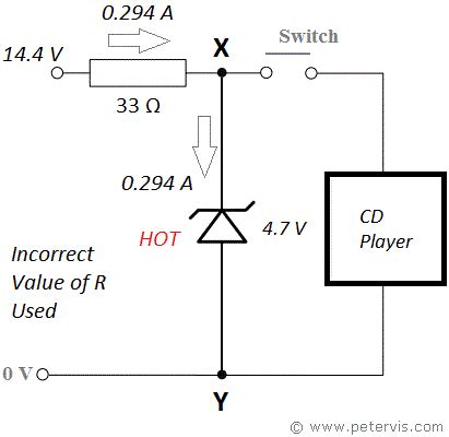 function of resistor in power supply circuit 4 7v zener diode power supply circuit