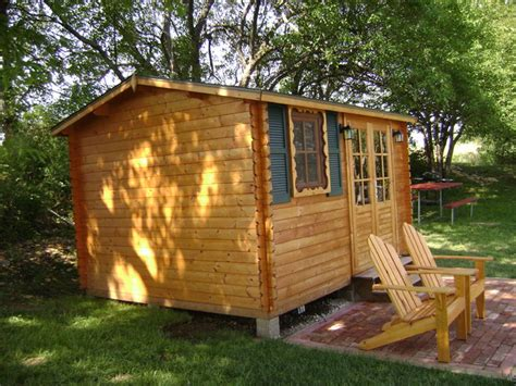 Eco Garden Sheds by Paradise 12 X 10 Wood Shed Pool House Traditional