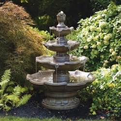small four tier garden fountain