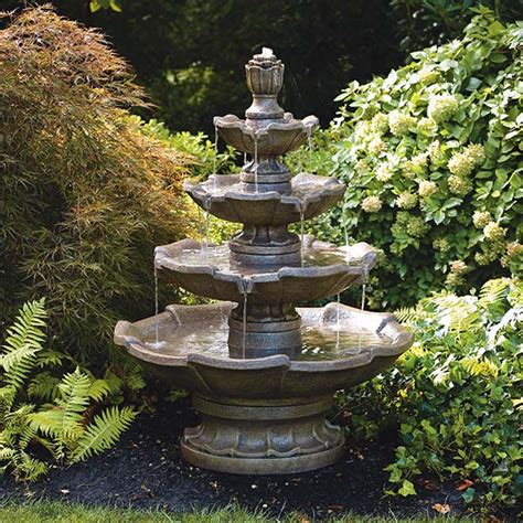 patio water fountains ideas