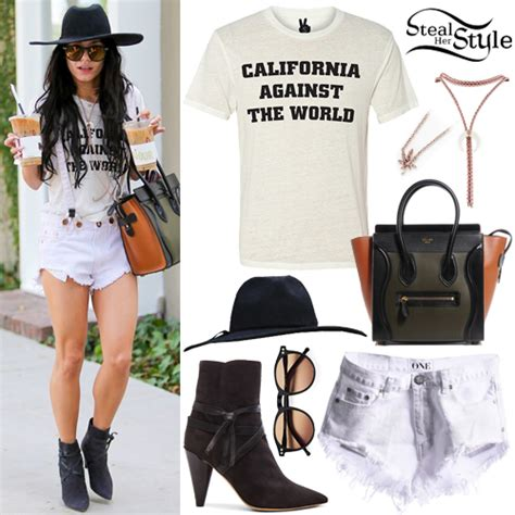 vanessa hudgens clothes outfits steal her style vanessa hudgens leaving a coffee shop in beverly hills