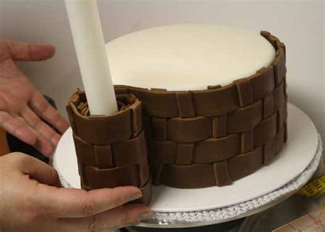 how to make fondant basketweave cakejournal com