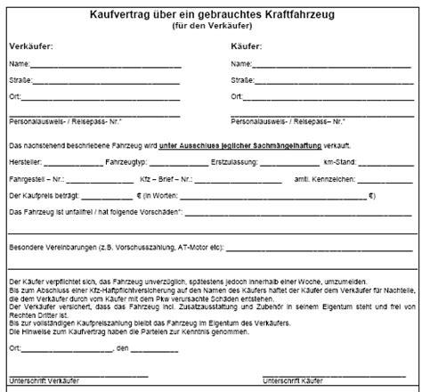 Auto Kaufvertrag Ber Internet by Kaufvertragsformular Auto Kaufvertragsformular Auto Kfz