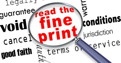 Sweepstakes Fine Print - learn about deceptive marketing truth in advertising