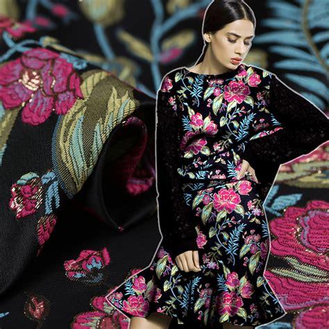 Segiempat Satin Emboss Jacquard Silk 10 metallic yarn dyed brocade jacquard fabric import coat tissu polyester fabric