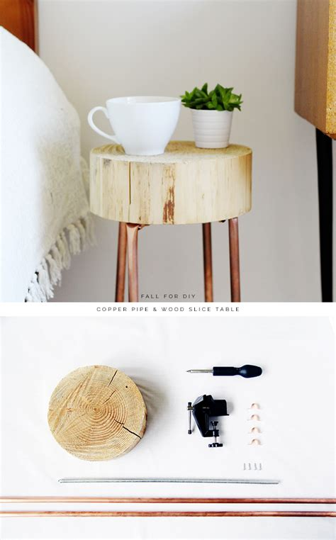 diy copper room decor best solutions of copper decor diy copper pipe and wood slice side table fall for diy