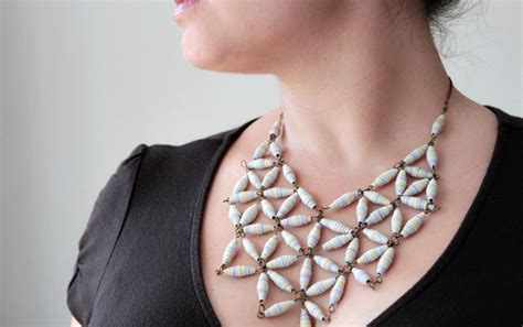 How To Make A Necklace With Paper - make a gorgeous designer style geo necklace with paper