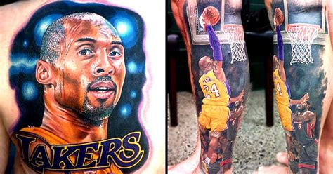 kobe bryant tattoo 10 phenomenal bryant tattoos tattoodo