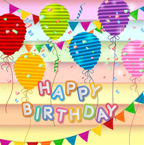 happy birthday card design template free vector in adobe