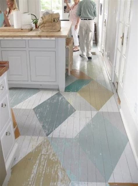 Painted Wood Floors | stencils and creative painting ideas for wood floor decoration