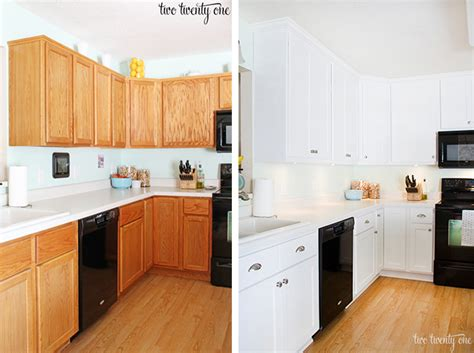 painting oak cabinets white before and after painting laminate cabinets before and after cabinets